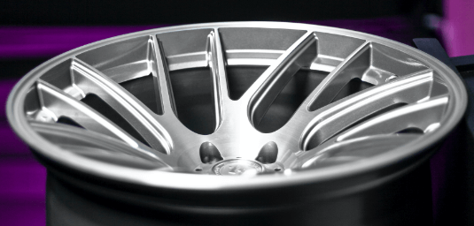 Artisa wheel laid down showing its concave design