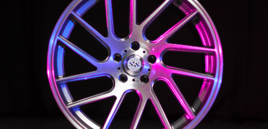 Showcased deco directional wheel