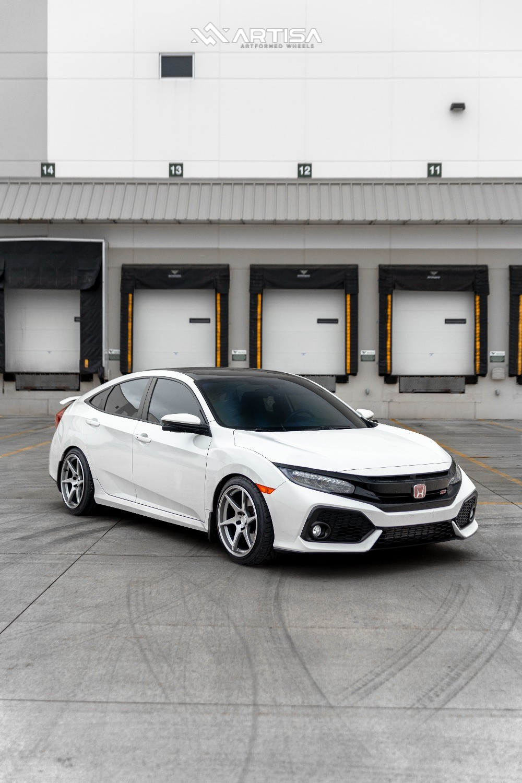 2018 Honda Civic - 18x9.5 35mm - Artisa ArtFormed Titan - Lowering Springs - 235/40R18