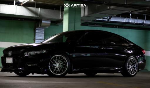 2018 Honda Accord - 18x9.5 22mm - Artisa ArtFormed Elder - Coilovers - 255/40R18