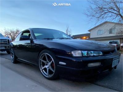 1997 Nissan 240SX - 18x9.5 35mm - Artisa ArtFormed Titan - Coilovers - 245/40R18