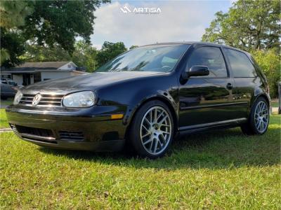 2002 Volkswagen GTI - 18x8.5 35mm - Artisa ArtFormed Elder - Lowering Springs - 225/45R18