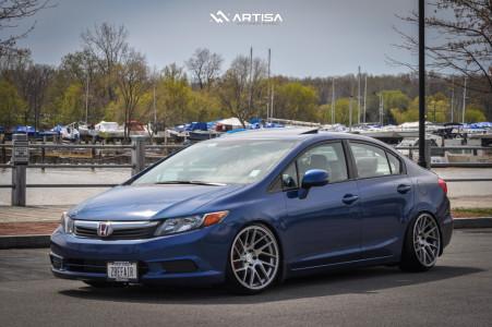 2012 Honda Civic - 18x9.5 22mm - Artisa ArtFormed Elder - Coilovers - 215/35R18
