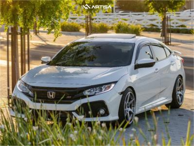 2017 Honda Civic - 18x9.5 35mm - Artisa ArtFormed Titan - Lowering Springs - 235/40R18