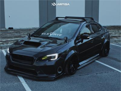 2016 Subaru WRX - 18x9.5 15mm - Artisa Artformed Night - Air Suspension - 245/35R18