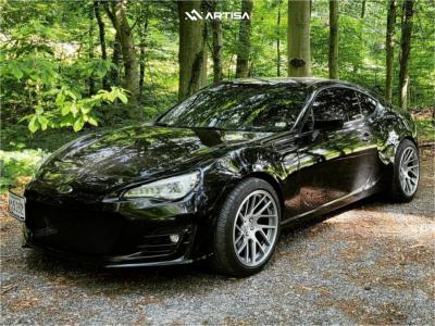 2017 Subaru BRZ - 18x9.5 22mm - Artisa ArtFormed Elder - Coilovers - 245/40R18