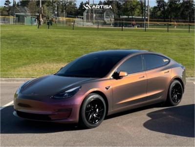 2020 Tesla 3 - 18x9.5 35mm - Artisa Artformed Elder - Stock Suspension - 245/45R18