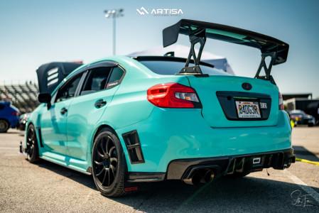 2017 Subaru WRX STI - 18x8.5 35mm - Artisa ArtFormed Night - Coilovers - 245/40R18