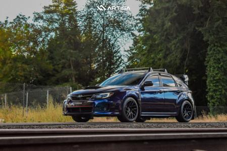 2014 Subaru WRX - 18x9.5 38mm - Artisa ArtFormed Elder - Stock Suspension - 245/35R18