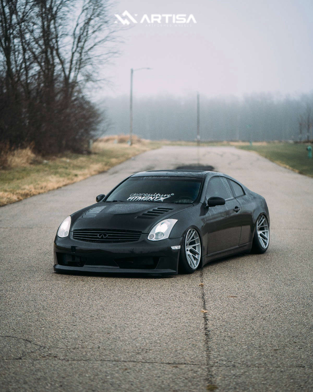 11 2004 G35 Infiniti Rwd 2dr Coupe W Leather 35l 6cyl 6m Air Lift Performance Air Suspension Artisa Elder Silver