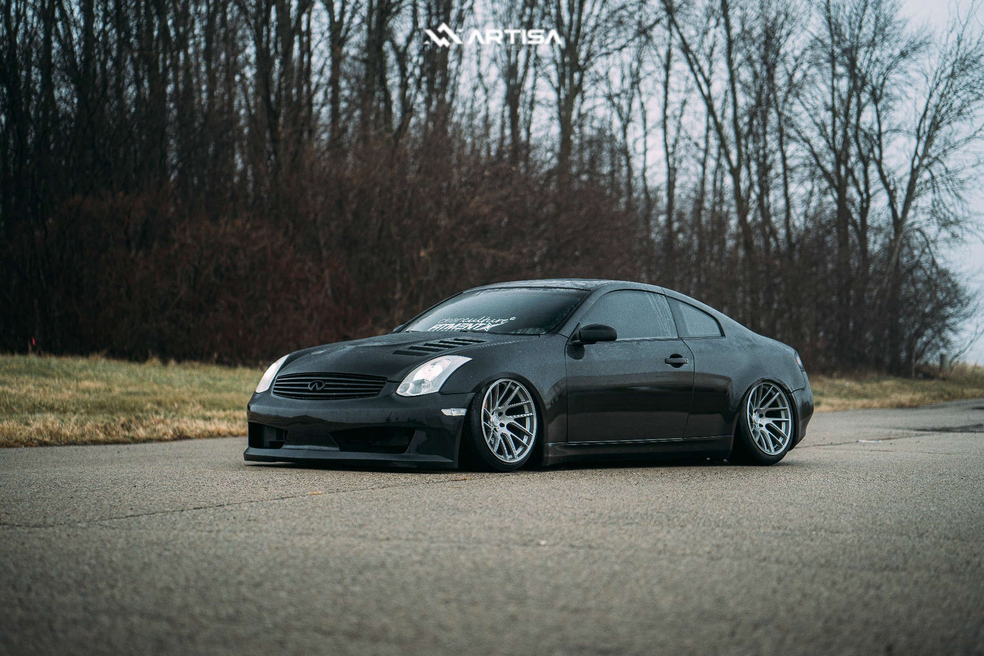 2 2004 G35 Infiniti Rwd 2dr Coupe W Leather 35l 6cyl 6m Air Lift Performance Air Suspension Artisa Elder Silver