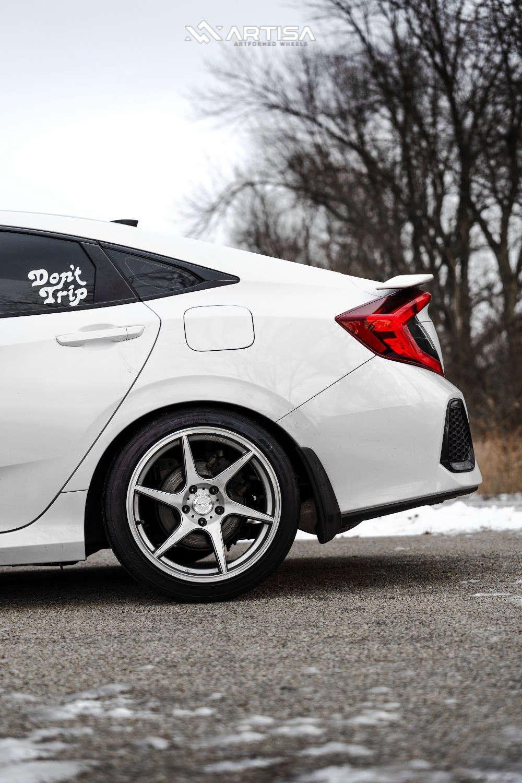 7 2018 Civic Honda Si Eibach Lowering Springs Artisa Artformed Titan Silver