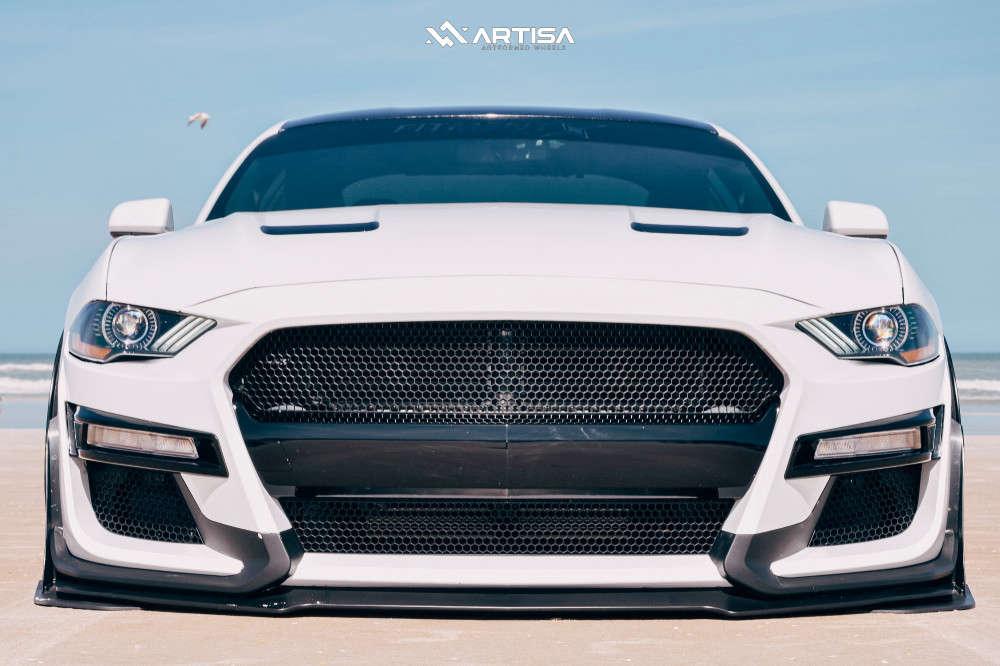 2 2019 Mustang Ford Ecoboost Air Lift Performance Air Suspension Artisa Artformed Elder Black