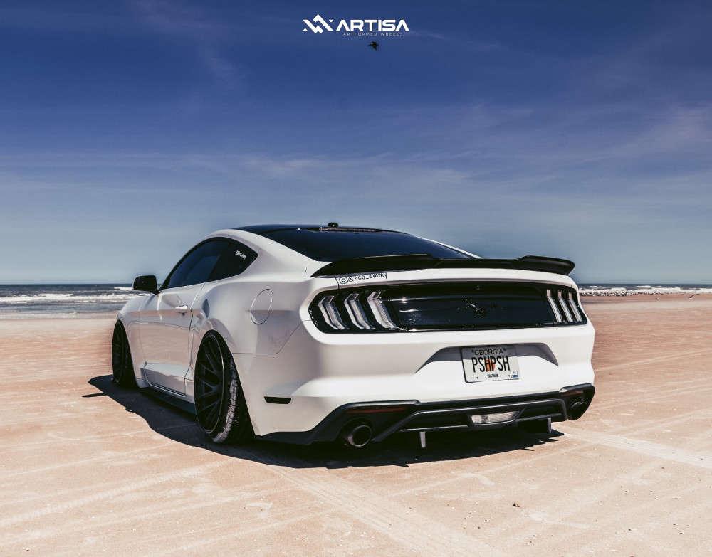 3 2019 Mustang Ford Ecoboost Air Lift Performance Air Suspension Artisa Artformed Elder Black
