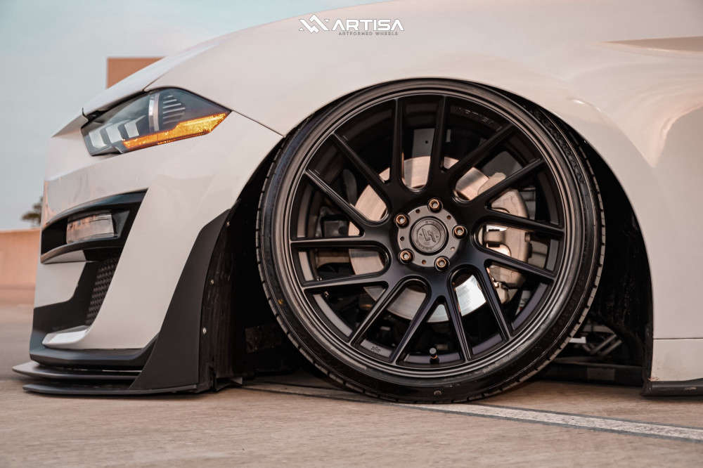 8 2019 Mustang Ford Ecoboost Air Lift Performance Air Suspension Artisa Artformed Elder Black