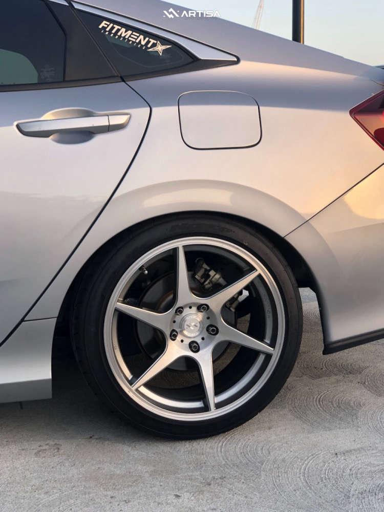 10 2017 Civic Honda Si Bc Racing Coilovers Artisa Artformed Titan Silver