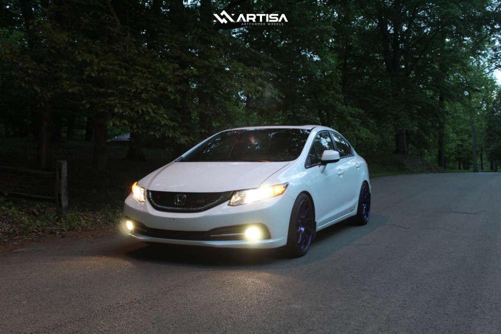 1 2013 Civic Honda Si Eibach Lowering Springs Artisa Artformed Night Custom