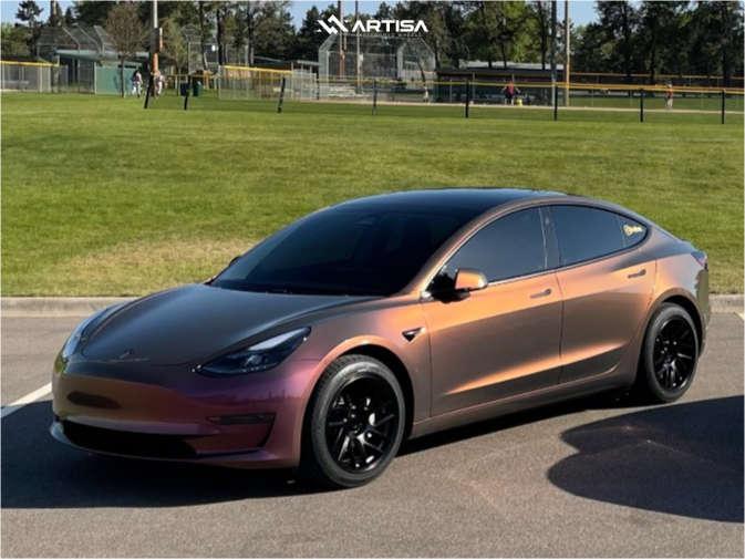 1 2020 3 Tesla Performance Stock Air Suspension Artisa Artformed Elder Black
