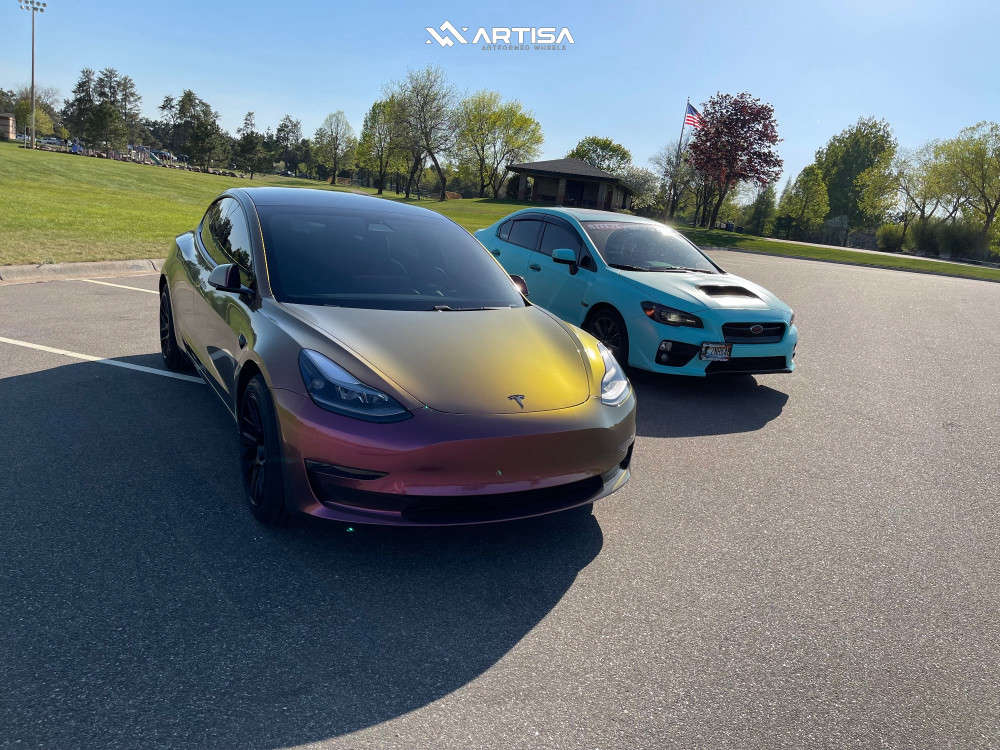 4 2020 3 Tesla Performance Stock Air Suspension Artisa Artformed Elder Black
