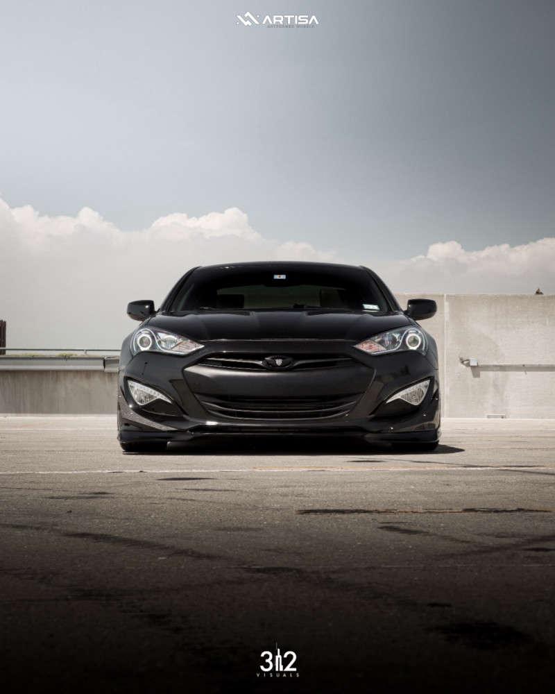 2 2013 Genesis Coupe Hyundai 20t Premium Air Lift Performance Air Suspension Artisa Artformed Elder Black