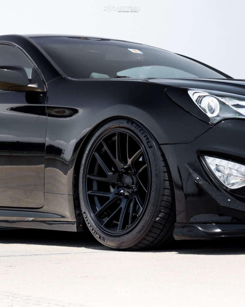 5 2013 Genesis Coupe Hyundai 20t Premium Air Lift Performance Air Suspension Artisa Artformed Elder Black