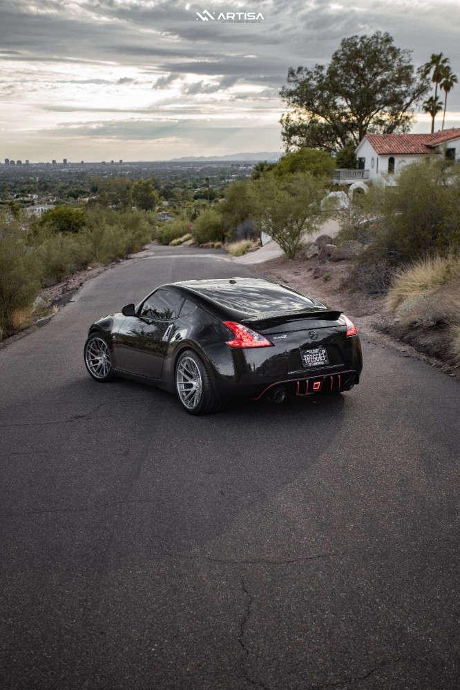 4 2013 370z Nissan Touring Stock Air Suspension Artisa Artformed Elder Silver