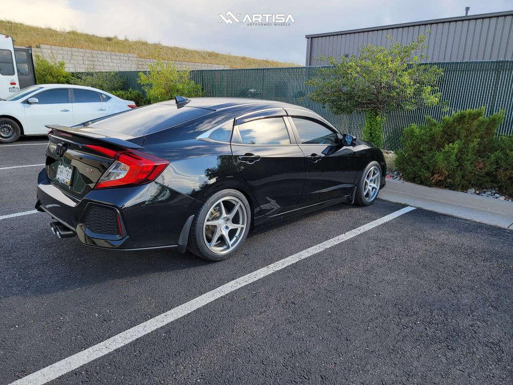 4 2019 Civic Honda Si Eibach Lowering Springs Artisa Artformed Titan Silver