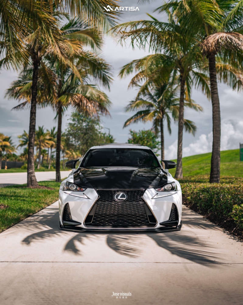 1 2017 Is200t Lexus F Sport Air Lift Performance Air Suspension Artisa Artformed Carrier Brushed Apollo Silver