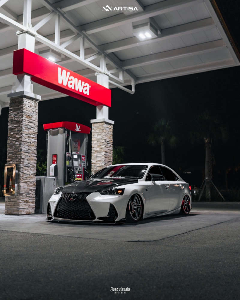 4 2017 Is200t Lexus F Sport Air Lift Performance Air Suspension Artisa Artformed Carrier Brushed Apollo Silver