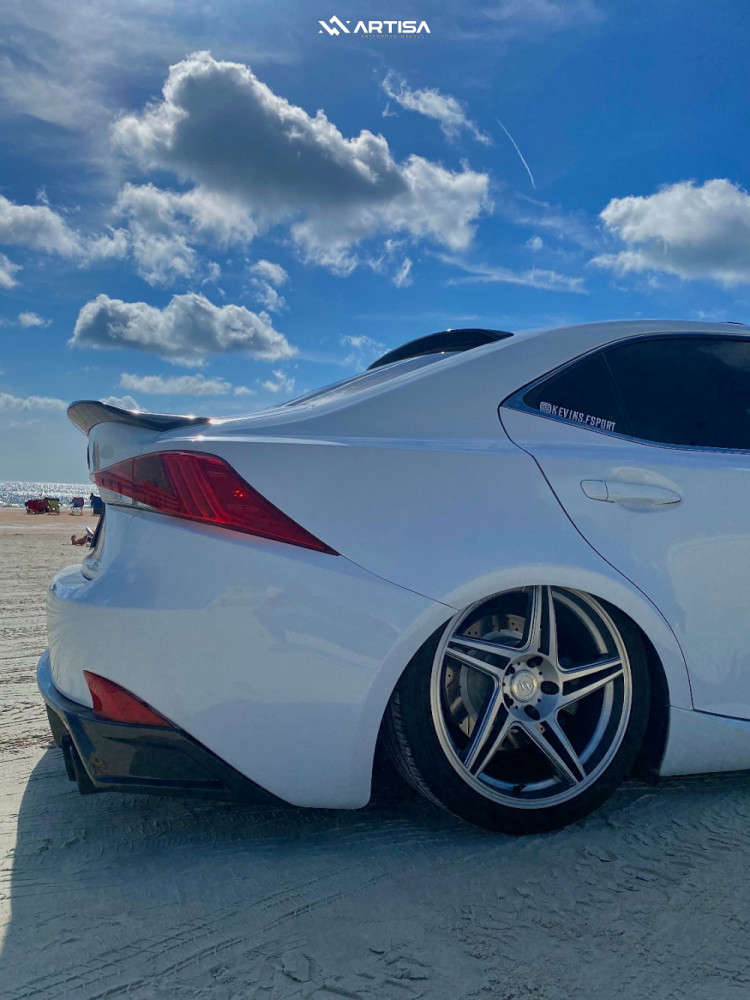 6 2017 Is200t Lexus F Sport Air Lift Performance Air Suspension Artisa Artformed Carrier Brushed Apollo Silver