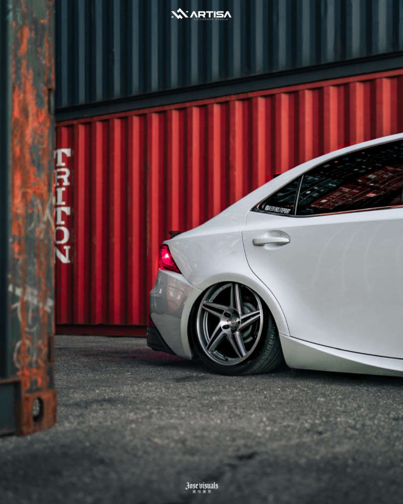 8 2017 Is200t Lexus F Sport Air Lift Performance Air Suspension Artisa Artformed Carrier Brushed Apollo Silver