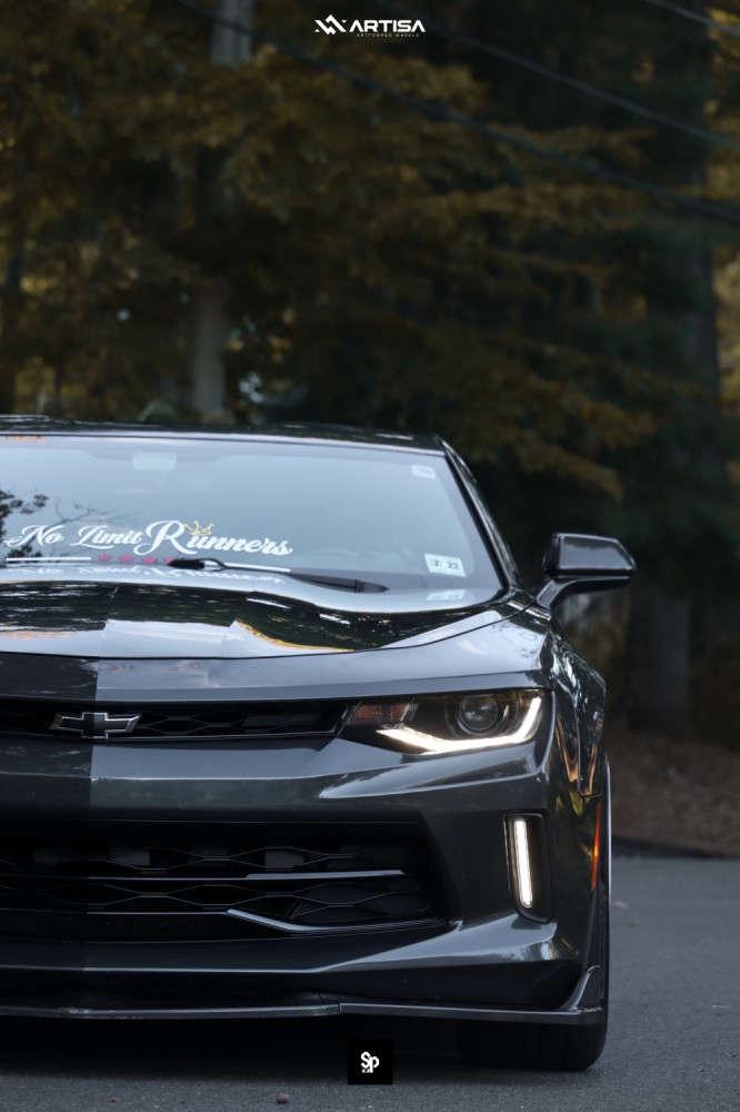 1 2017 Camaro Chevrolet Lt Eibach Lowering Springs Artisa Artformed Elder Brushed Apollo Silver