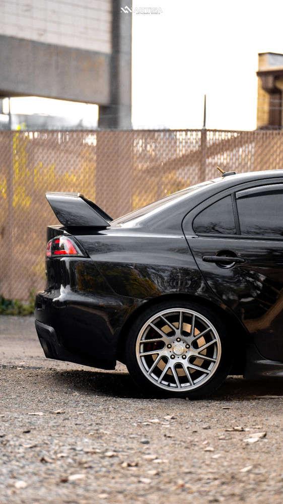 8 2012 Lancer Mitsubishi Evolution Gsr Truhart Coilovers Artisa Artformed Elder Brushed Apollo Silver