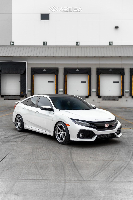 1 2018 Civic Honda Si Eibach Lowering Springs Artisa Artformed Titan Silver
