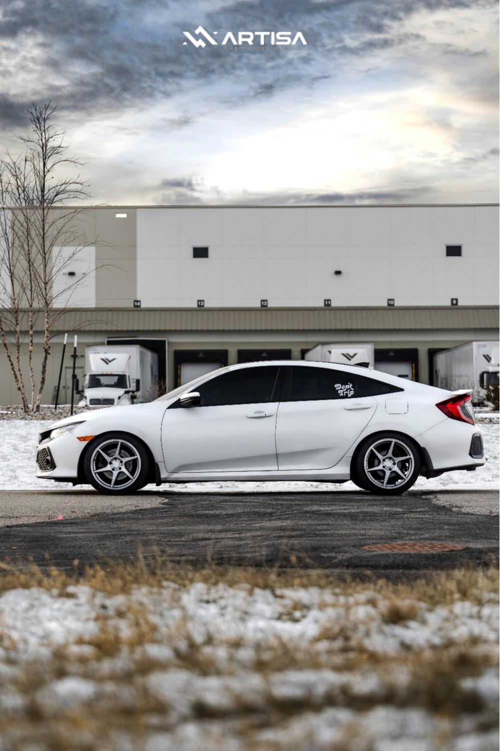 3 2018 Civic Honda Si Eibach Lowering Springs Artisa Artformed Titan Silver