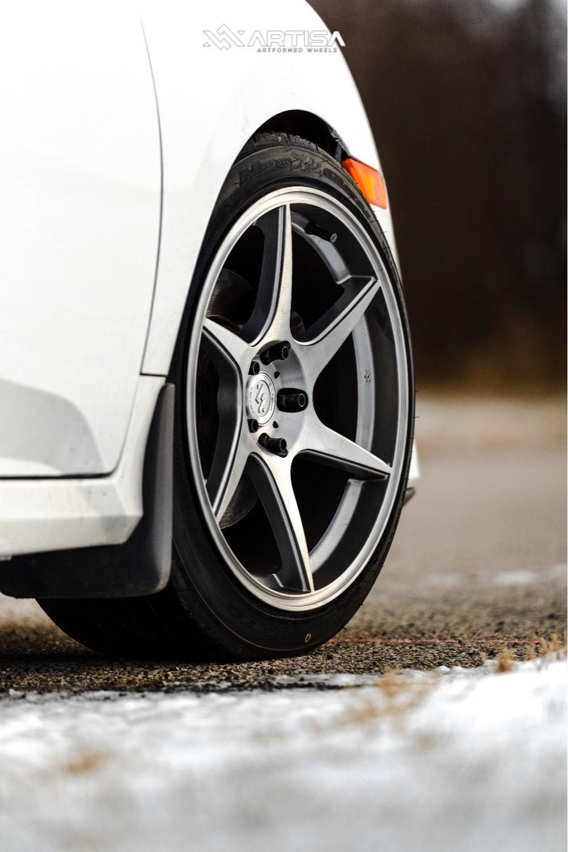 5 2018 Civic Honda Si Eibach Lowering Springs Artisa Artformed Titan Silver