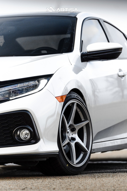 6 2018 Civic Honda Si Eibach Lowering Springs Artisa Artformed Titan Silver