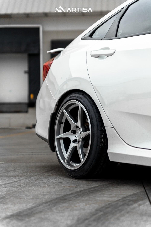 8 2018 Civic Honda Si Eibach Lowering Springs Artisa Artformed Titan Silver